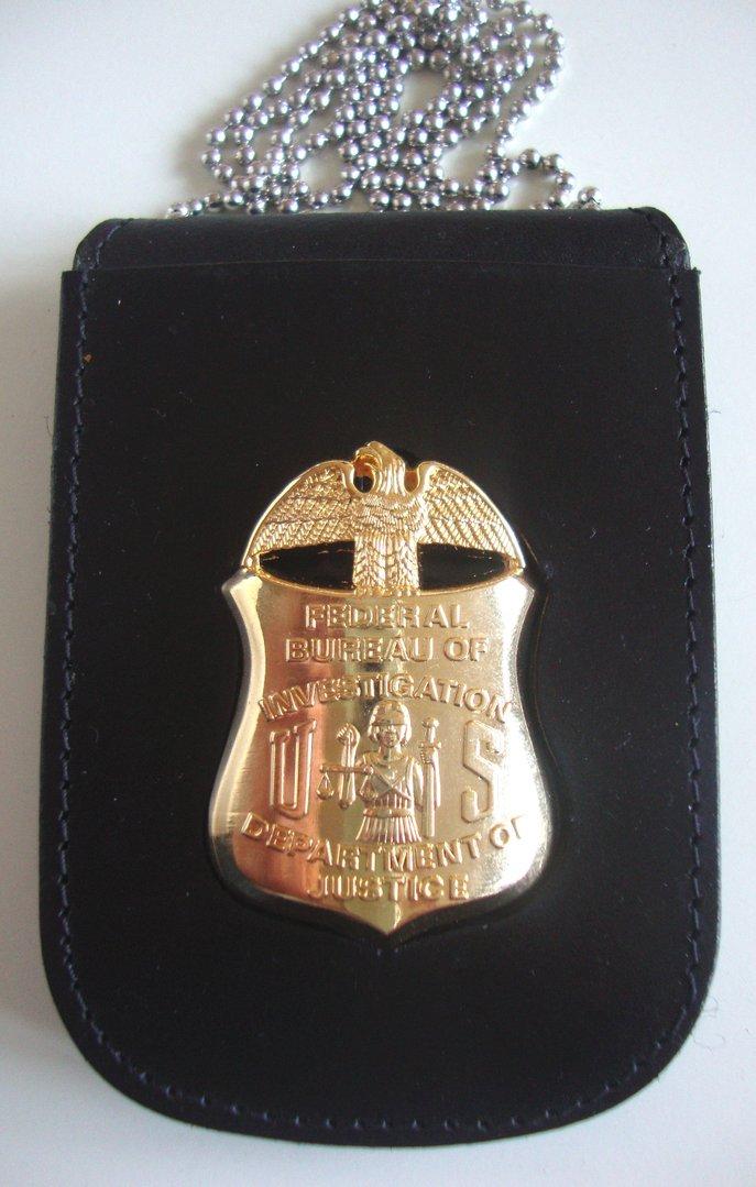 Ambulance For Sale >> FBI BADGE SHIELD & NECKCHAIN BADGEHOLDER POLICEBADGE.EU Badges