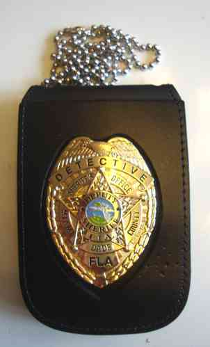 MIAMI DADE BADGE DETECTIVE NECKCHAIN BADGEHOLDER