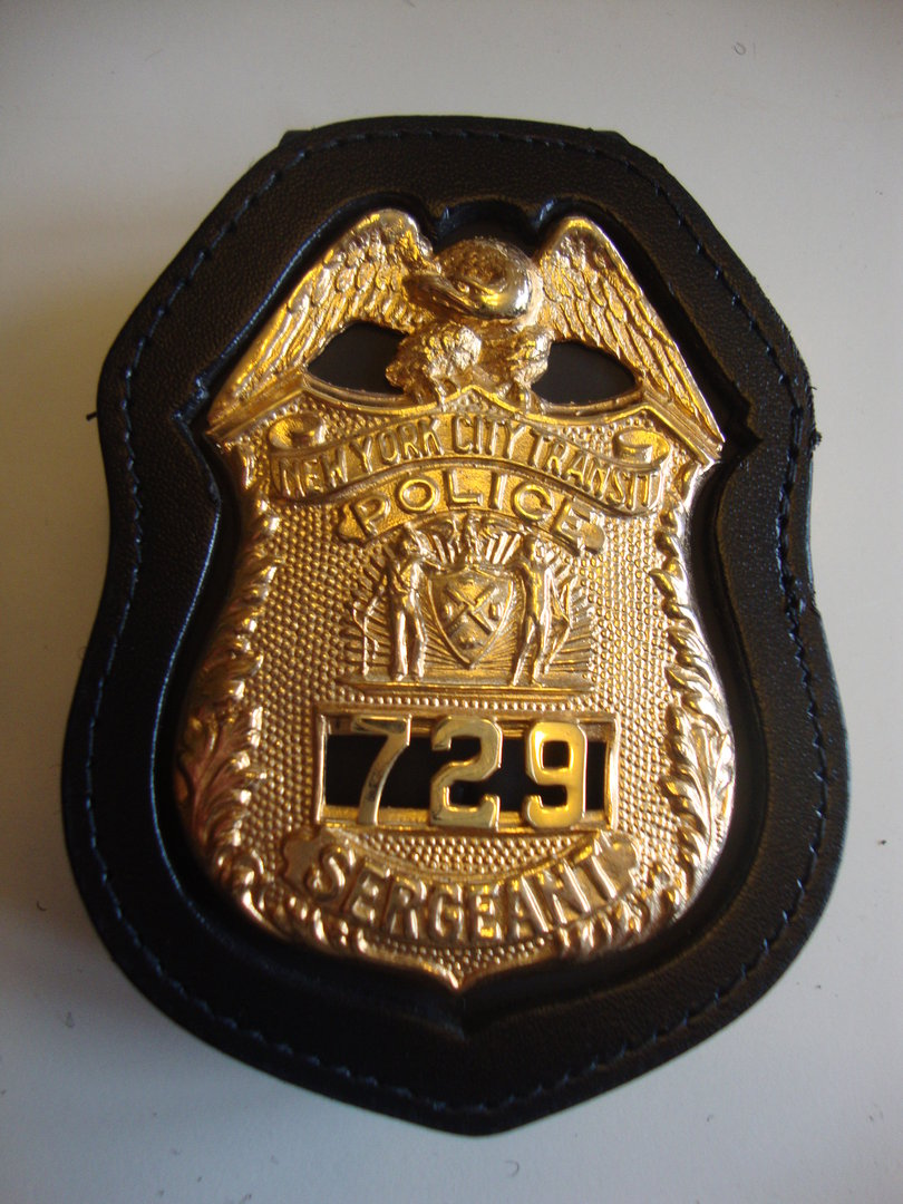 NYPD SERGEANT BADGEHOLDER CLIP ON - POLICE BADGE.EU - police
