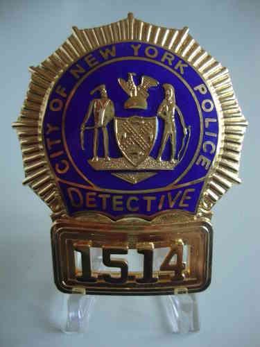 NEW YORK POLICE DETECTIVE BADGE SHIELD