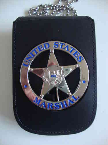 US MARSHAL BADGE & NECKCHAIN BADGEHOLDER