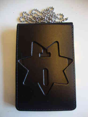 SEVEN POINT STAR BADGEHOLDER NECKCHAIN