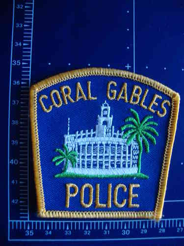 FLORIDA  CORAL GABELS POLICE PATCH