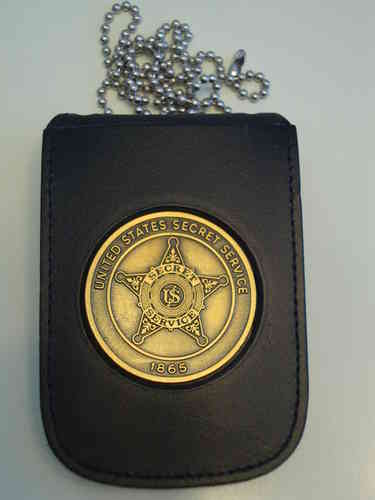 US SECRET SERVICE BADGE + BADGEHOLDER NECKCHAIN