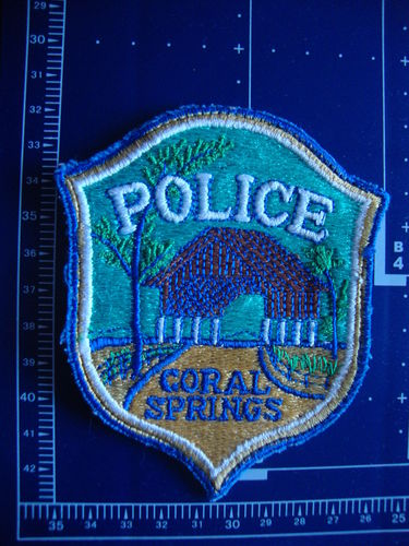 FLORIDA  CORAL SPRINGS POLICE PATCH