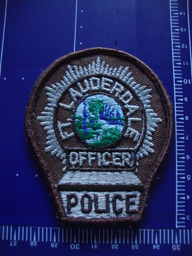 FLORIDA FORT LAUDERDALE POLICE OFFICER PATCH
