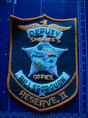 FLORIDA HILLSBOROUGH COUNTY SHERIFF RESERVE II PATCH