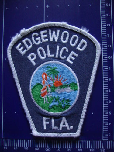 FLORIDA EDGEWOOD POLICE PATCH